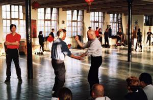 Sifu Paul ONeal and Grandmaster Yip Ching at UK Wing Chun Seminar