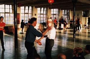 AFS Wing Chun's Sifu Paul O'Neal practicing Ving Tsun with Sifu Ip Ching