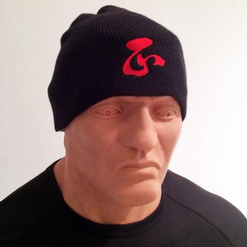 Ching Character AFS Wing Chun Black Wool Beanie Hat