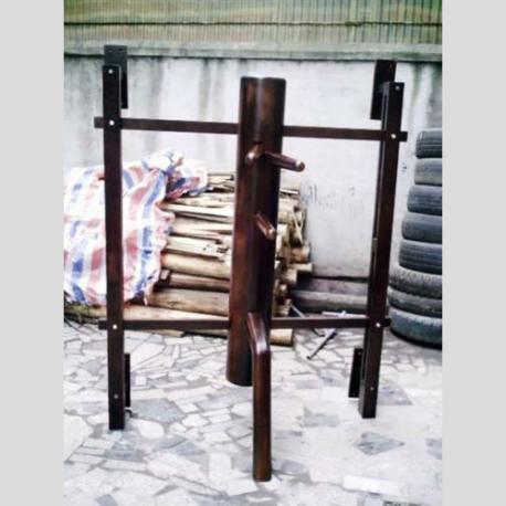 Wall mounted muk yan chong wing chun wooden dummy